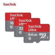 SANDISK MICRO SD 16 GB 32 GB 64 GB CLASSE 10 MICROSD ULTRA 80mb/s SCHEDA MEMORIA