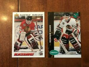 1991-92 Dominik Hasek UD/ Parkhurst Hockey (2) Rookie RC Card -FRENCH **mint**