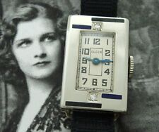 EXQUISITE Ladies' Solid 14k White Gold Deco Era Elgin Cocktail Watch - SERVICED