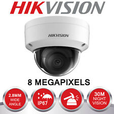 HIKVISION 8MP IP POE CCTV DOME CAMERA 4K 2.8MM OUTDOOR 30M WHITE DS-2CD2185FWD-I