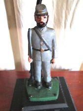 Vintage Cast Iron Confederate Soldier Centennial Table Lamp. Civil War History.