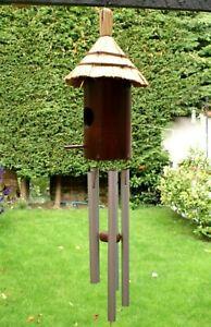 Great Sounding Tiki Hut Aluminium Wind Chime Hanging Outdoor Garden Decor