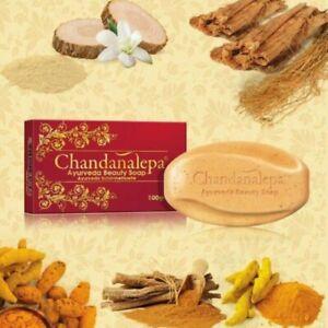100g Ayurveda Herbal Soap Sri Lanka Chandanalepa Beauty Body Health Germ Killing