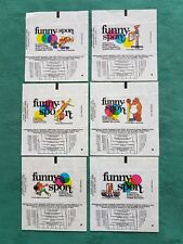 RARE DANDY GUM WAX WRAPPERS-FUNNY SPORT-SET OF SIX