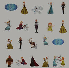 4Nail Art Sticker Water Decals Transfer Frozen Olaf Anna Elsa (BLE1981)