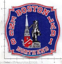 Massachusetts - Boston Engine 8 Ladder 1 MA Fire Dept Patch v2 - North End