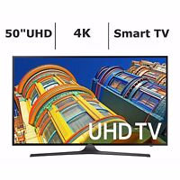 "Samsung UN50KU6300 50"" Ultra HD 4K UHD LED TV with Remote WiFi Apps HDMI USB"