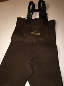 REDHEAD Neoprene Thermal Insulated Stocking-Foot Chest Waders Youth Medium Brown