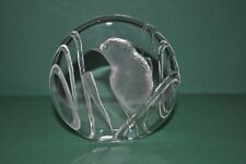 Mats Jonasson 9364 Bird Art Glass Paperweight