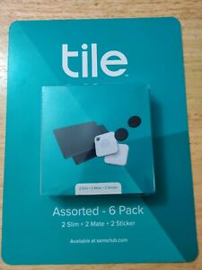 Tile Assorted 6-Pack 2 Slim + 2 Mate + 2 Sticker Finders RE-33006-BN Black NEW