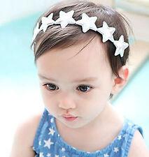 NEW Baby Girl Kid Children Silver Star Elastic Stretch Party headband hair band