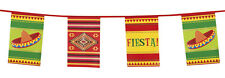 Mexican / Fiesta Flag Bunting Party Decoration - 33Ft / 10M Long - New & Sealed