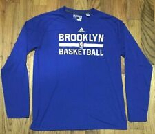 Authentic Adidas Brooklyn Nets Blue Long Sleeve Ultimate Tee size XL