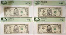 4 CONSECUTIVE Serial Number New York (2) PCGS 66PPQ & (2) PCGS67PPQ Fr 2125-B