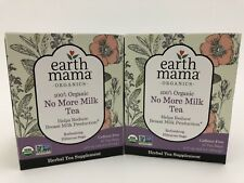 Earth Mama 100% Organics No More Milk Tea REDUCE MILK 2 Packages of 16 bags