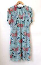 LINDY BOP Amelia Peter Pan Collar Blue Vintage Style DRESS UK 14 - BNWT - Y99