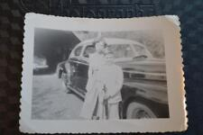 Vintage Car Photo Cute Girl & Boy w/ BB Gun & 1941 Pontiac 869