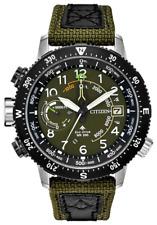 Citizen Eco-Drive Promaster Altichron Green Nylon Strap 47mm Watch BN5050-09X