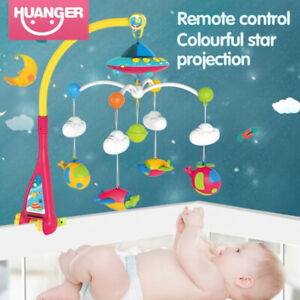 Baby Crib Bed Cot Mobile Stars Dreams Musical Projection Nursery Lullaby Remote