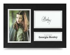 Georgie Henley Signed A4 Photo Actress Autograph Display Memorabilia COA