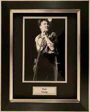PAUL YOUNG HAND SIGNED FRAMED PHOTO DISPLAY - WHEREVER I LAY MY HAT - PROOF.