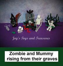 Lego Glow Mummy & Ghost - Witch Series Zombie Skeleton Halloween Graveyard Bat