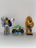 2001 Digimon Bandai Rare Action Figure Lot (GARGOMON, MAGNA, SABRE)
