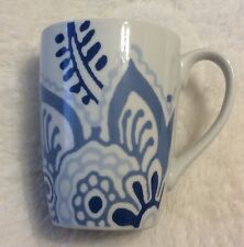 Noble Excellence BLUE FORAL Porcelain Coffee/ Tea Mug/Cup