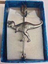 """Tyranosaurus Rex PP-G16 Pewter Emblem Kilt Pin Scarf or Brooch 3"""" 7.5 cm"""