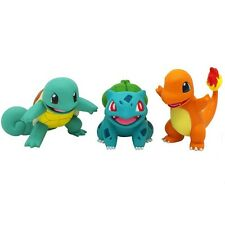 3pc Bulbasaur Charmander Squirtle Anime Pokemon Figure Tomy EX Takara Toy