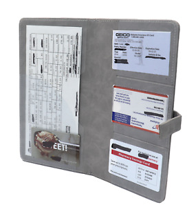 G Car Insurance holder for registration card documents auto organizer PU Leather