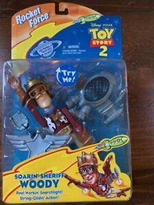Disney Toy Story Rocket Force Soarin' Sheriff Wood Action Figure Unopened Mint