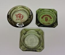 Lot of 3 Smoke Glass Casino Ashtrays - Harvey's & Sundowner