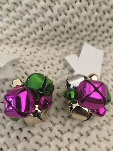 Bath and Body Works JINGLE BELLS Candle Magnet Lot of 2 Pink & Green NWT