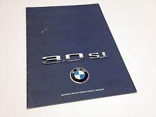 1975 BMW New Six Series 3.0 Si Sedan Brochure