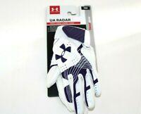 Under Armour UA Radar Batting Gloves YMD Medium White//Purple 1299552 500 Girls