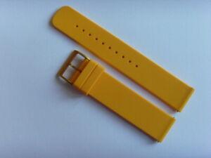 Uhrband SILIKON gelb orange yellow SKAGEN original SKW6510 strap 20 mm SKW1119