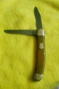 Vintage C. Schlieper 3 EYE German Eye 2 Blade Copperhead Pocketknife
