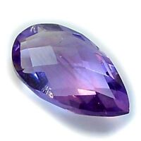 1Pc Natural Pear Checkerboard Amethyst (eye clean, approx. 14mm X 8mm)