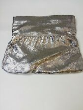BCBG Max Azria Evening Metal Mesh Fold Over Clutch