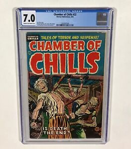 Chamber of Chills #22 7.0 KEY! (Lee Elias cover, Pre-Code horror!) 1954 Harvey