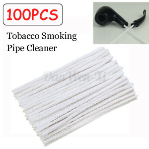 100 PCS Cotton Pipe Cleaners Smoking Tobacco Cleaning Tool White Easy Use