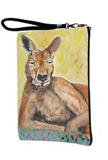 Kangaroo Pouch Wristlet with detachable strap - From my orginal Painting
