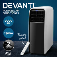 Devanti Portable Air Conditioner Cooling Mobile Fan Cooler Dehumidifier 2500W