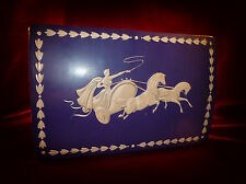 Vintage F.E.FOX & SON LTD WEDGWOOD Inspired BISCUIT TIN Advertising Very unusual