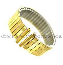 18-22mm Speidel Gold Tone Twist-O-Flex Stainless Steel Mens Watch Band Reg 161YR