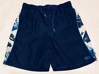 Vintage NIKE Men's Board Shorts Swim Trunks Size Large Blue.