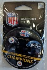 Pittsburgh Steelers Super Bowl XL Button SB 50 Commemative Set ON THE FIFTY