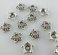 100pcs Tibetan silver DIY Crafts Spacer Bead Caps 5mm