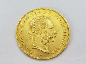 1892 Austria GOLD 4FL/10FRANC Coin AU+ .0933AGW L10383